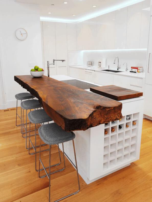 Cozinha Americana Dicas Profissionais, Fotos e Medidas  Arquidicas # Bancada De Pia De Cozinha Rustica