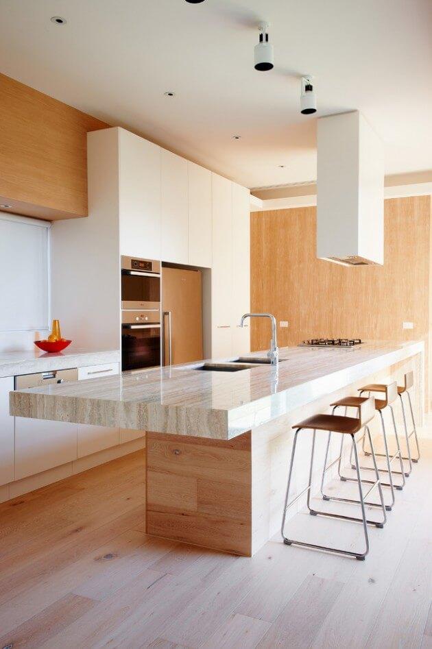 cozinha americana clara