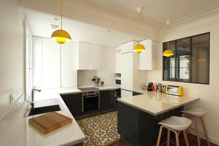 cozinha americana dicas profissionais fotos e medidas arquidicas. Black Bedroom Furniture Sets. Home Design Ideas