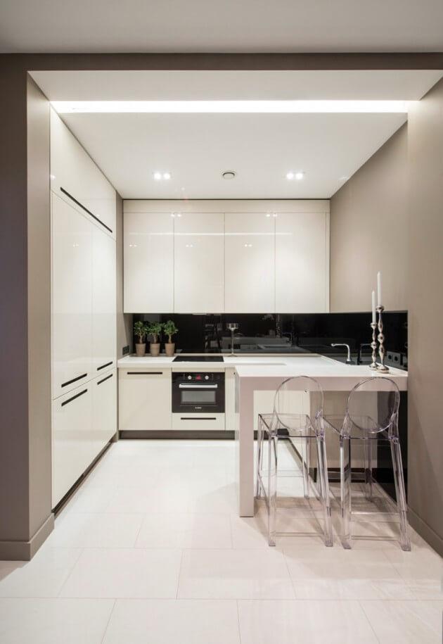 cozinha americana com iluminação