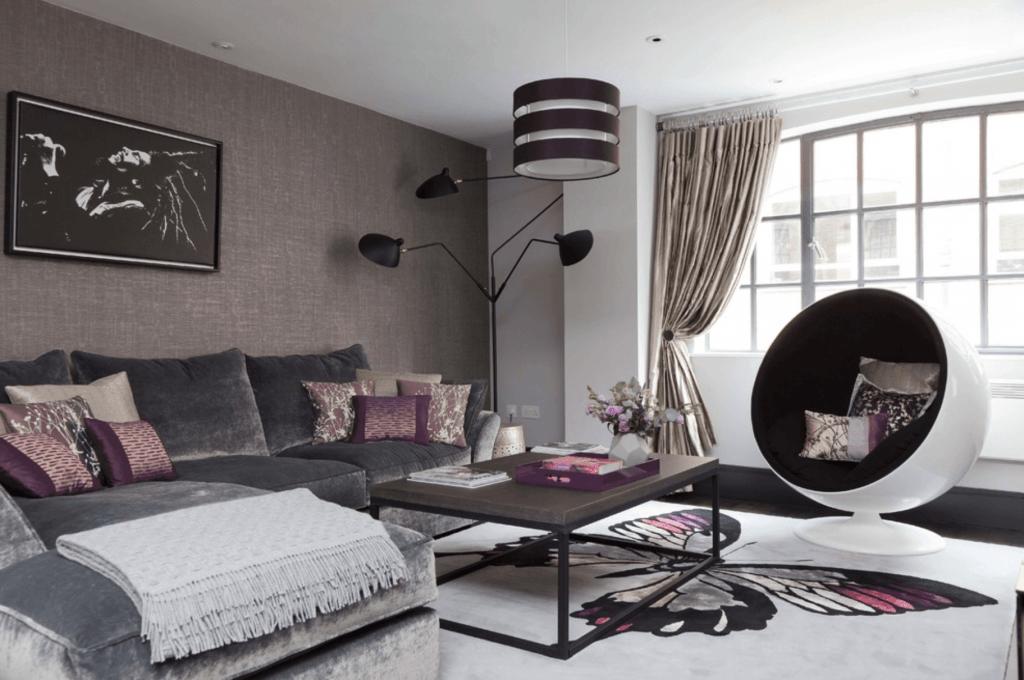 Móveis e decoração da sala