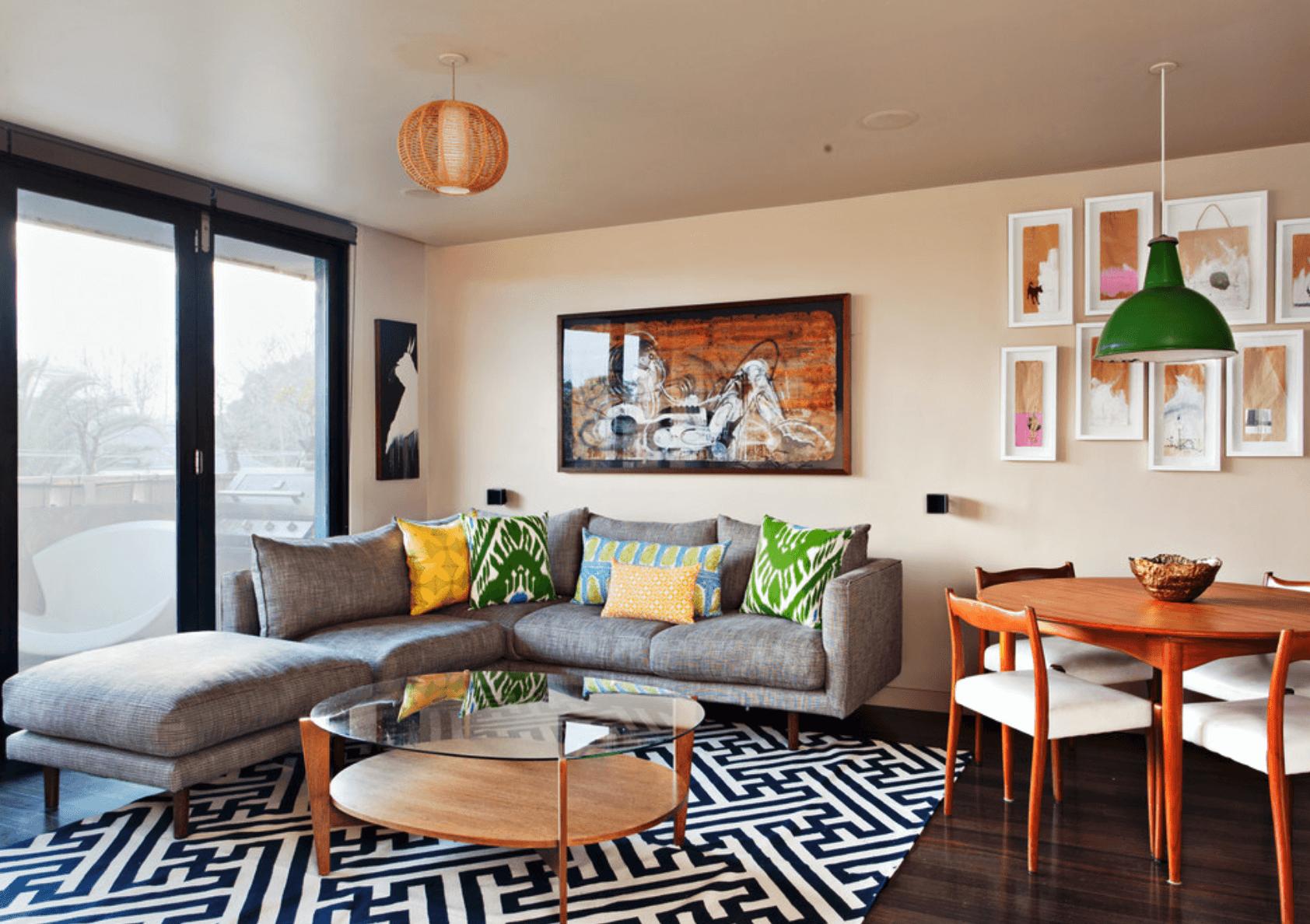 #9E5B2D Relacionado com sala de estar sala de jantar 1684x1188 píxeis em Como Decorar Uma Sala Pequena De Forma Barata