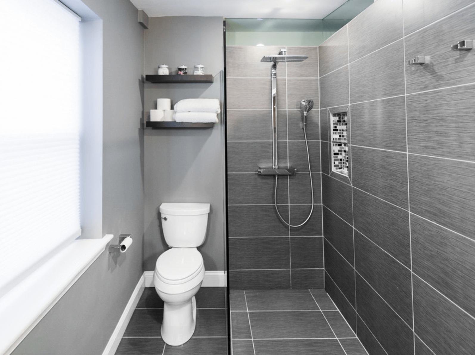 banheiro pequeno layout #5E6D61 1594 1192