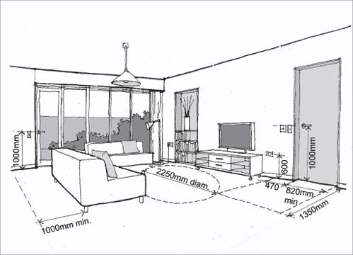 Standard measurement of living room for Room measurement tool