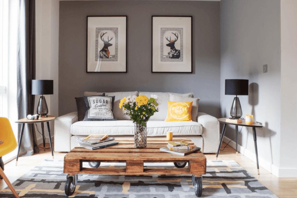 decoração cinza para sala