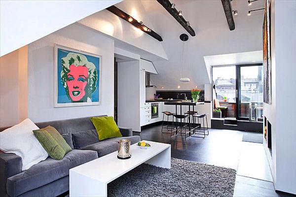 Decoração de salas de apartamento