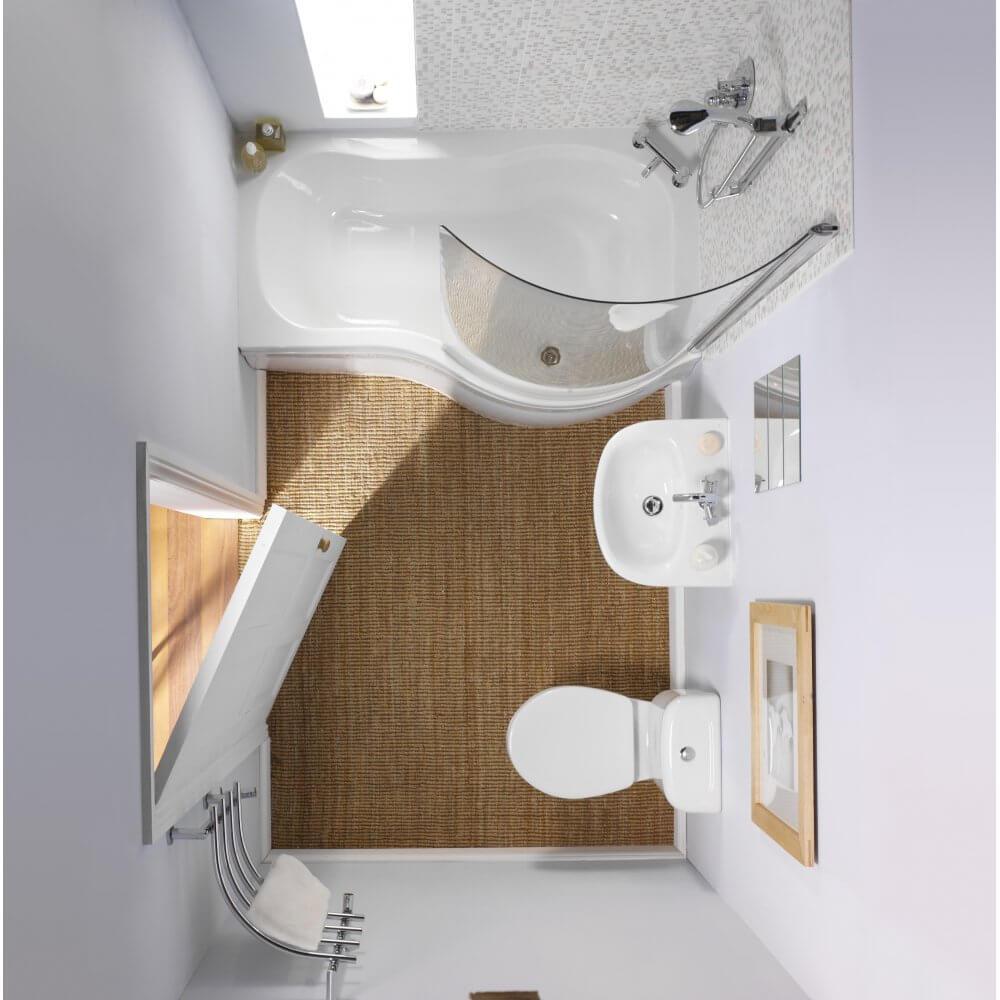 dimensões para banheiros pequenos