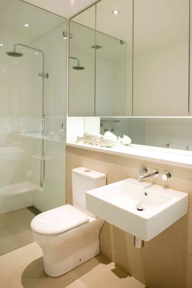 Banheiros Pequenos  Fotos e Dicas Imperdíveis  Arquidicas -> Decoracao De Banheiro Pequeno Bege