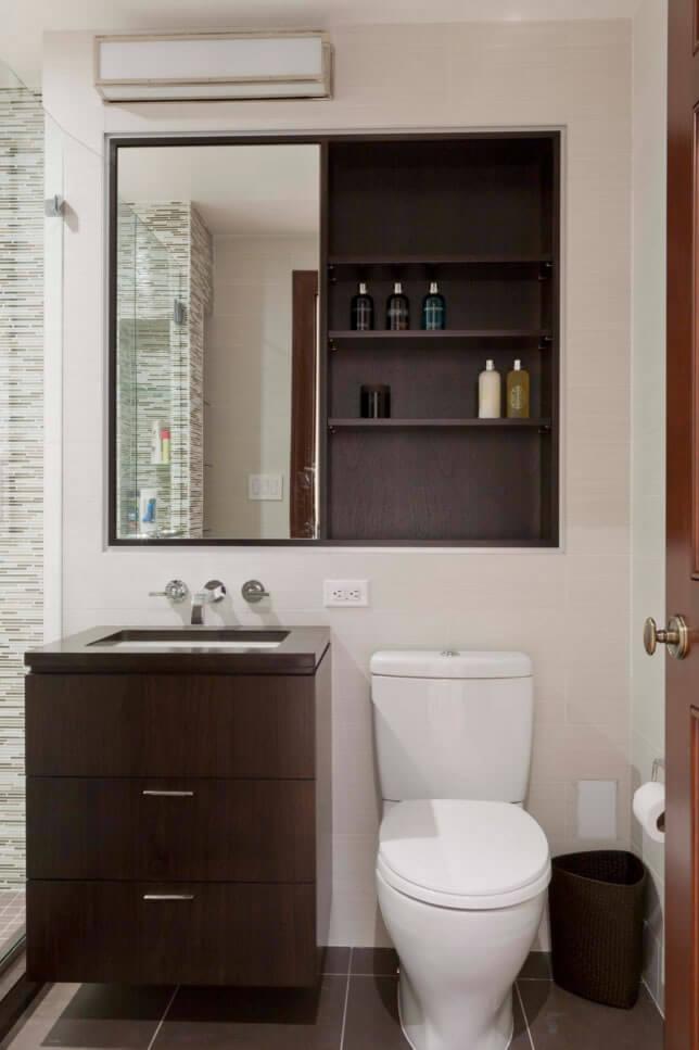#474711 Banheiros Pequenos Fotos e Dicas Imperdíveis Arquidicas 644x967 px ideias para banheiro pequeno e simples