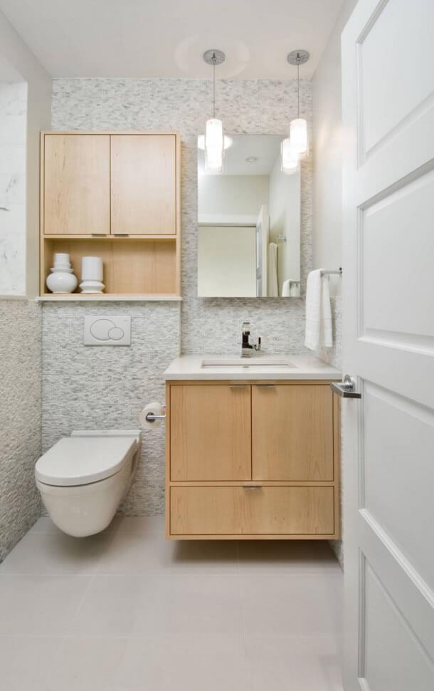 Banheiros Pequenos  Fotos e Dicas Imperdíveis  Arquidicas -> Decoracao De Banheiro Pequeno E Barato