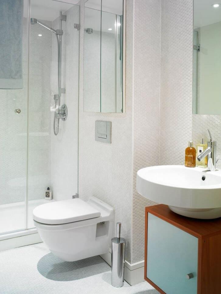 Banheiros Pequenos  Fotos e Dicas Imperdíveis  Arquidicas -> Layout Banheiro Pequeno