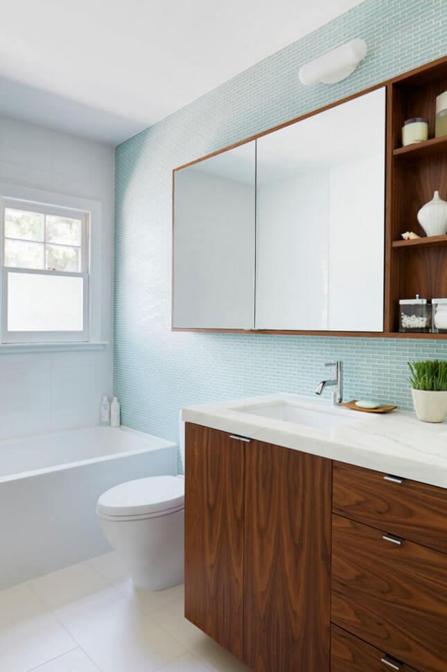 Banheiros Pequenos  Fotos e Dicas Imperdíveis  Arquidicas -> Banheiro Pequeno Com Pastilhas Cinza