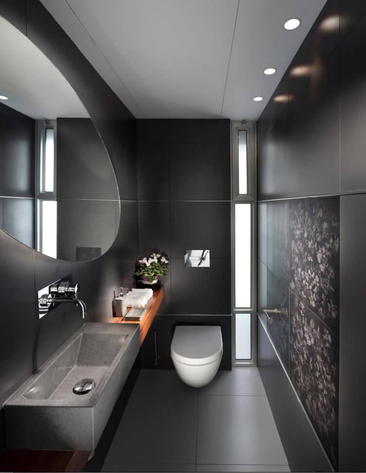 banheiro pequeno com porcelanato
