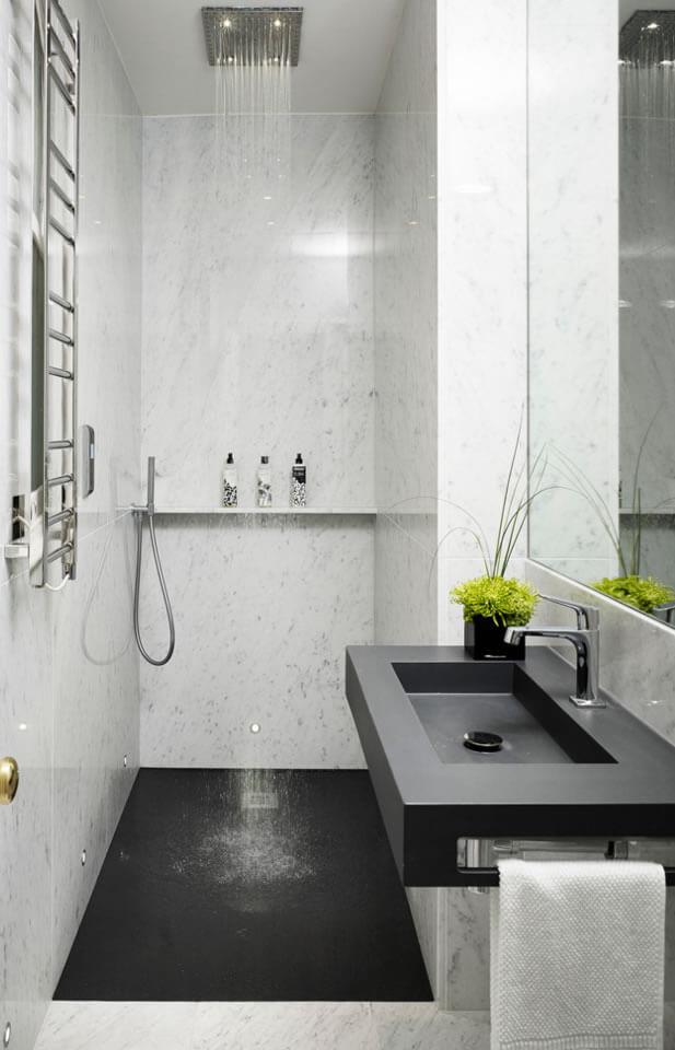 Banheiros Pequenos  Fotos e Dicas Imperdíveis  Arquidicas -> Banheiros Modernos Pequenos Decorados
