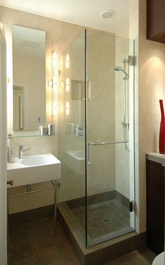 Banheiros Pequenos  Fotos e Dicas Imperdíveis  Arquidicas -> Banheiro Pequeno Com Porcelanato Grande
