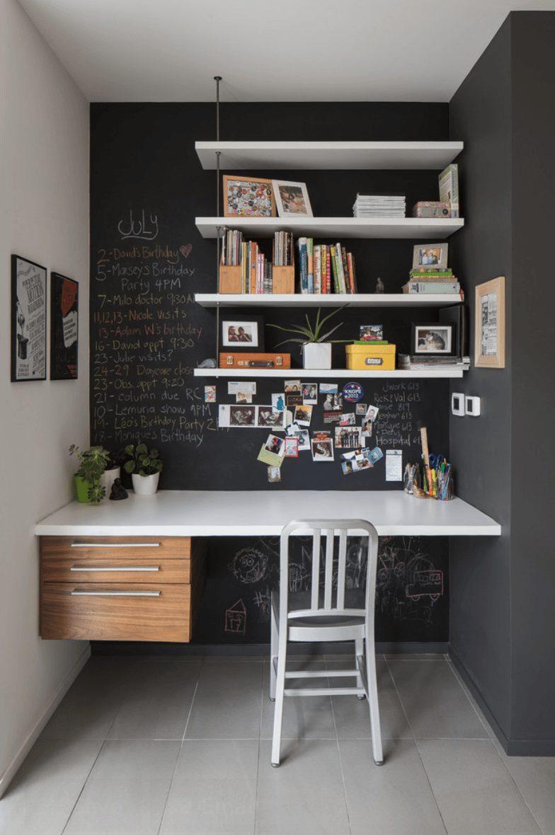 home office escuro