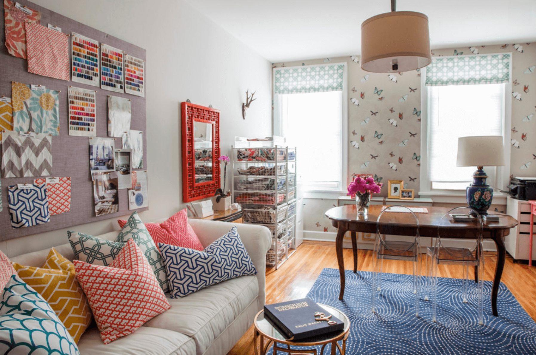 home office criativo e colorido
