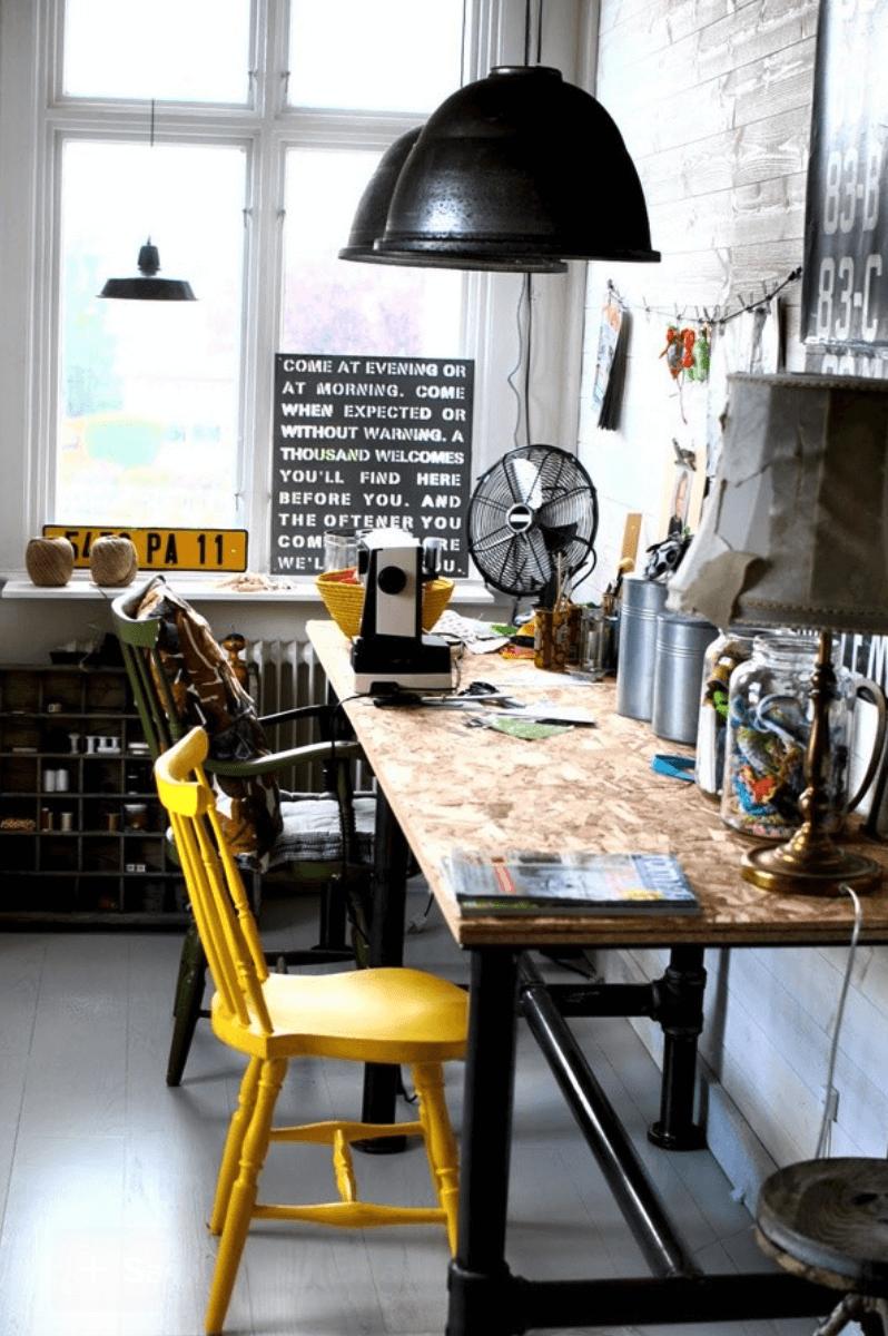 home office criativo simples