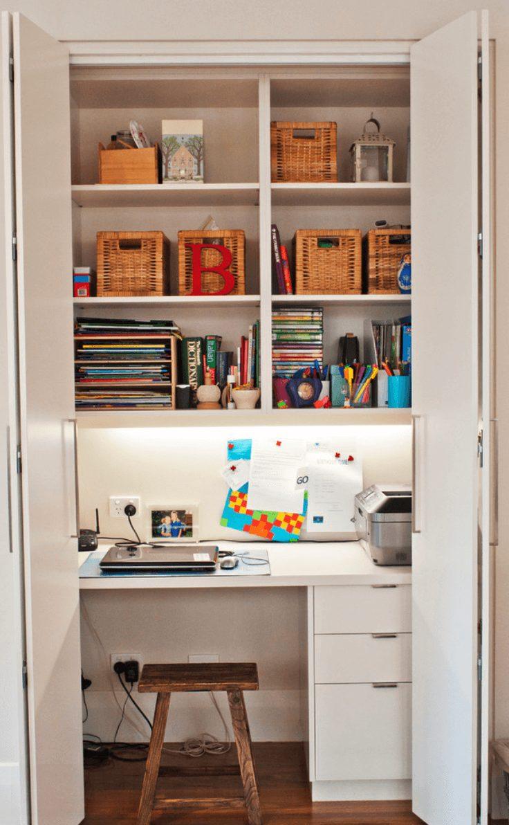home office dentro do armário