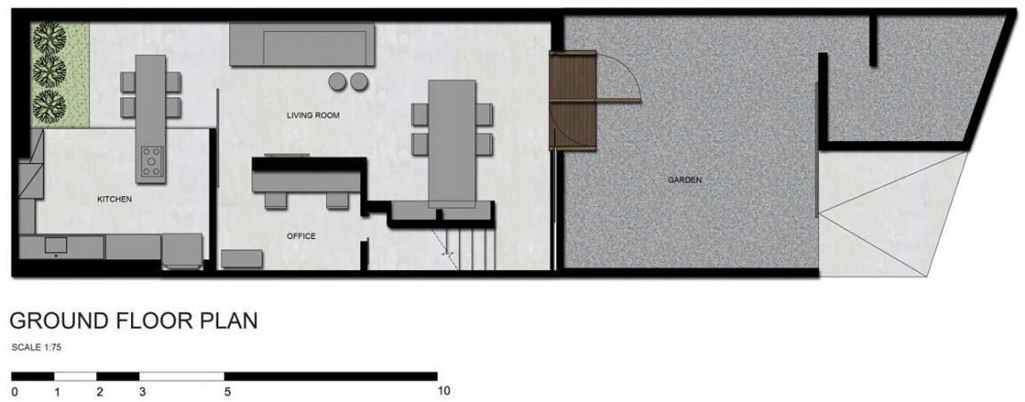 planta de casa pequena e simples