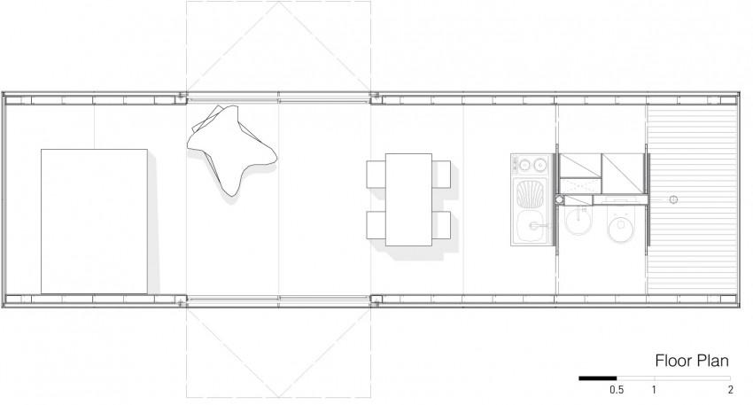 planta de casa compacta