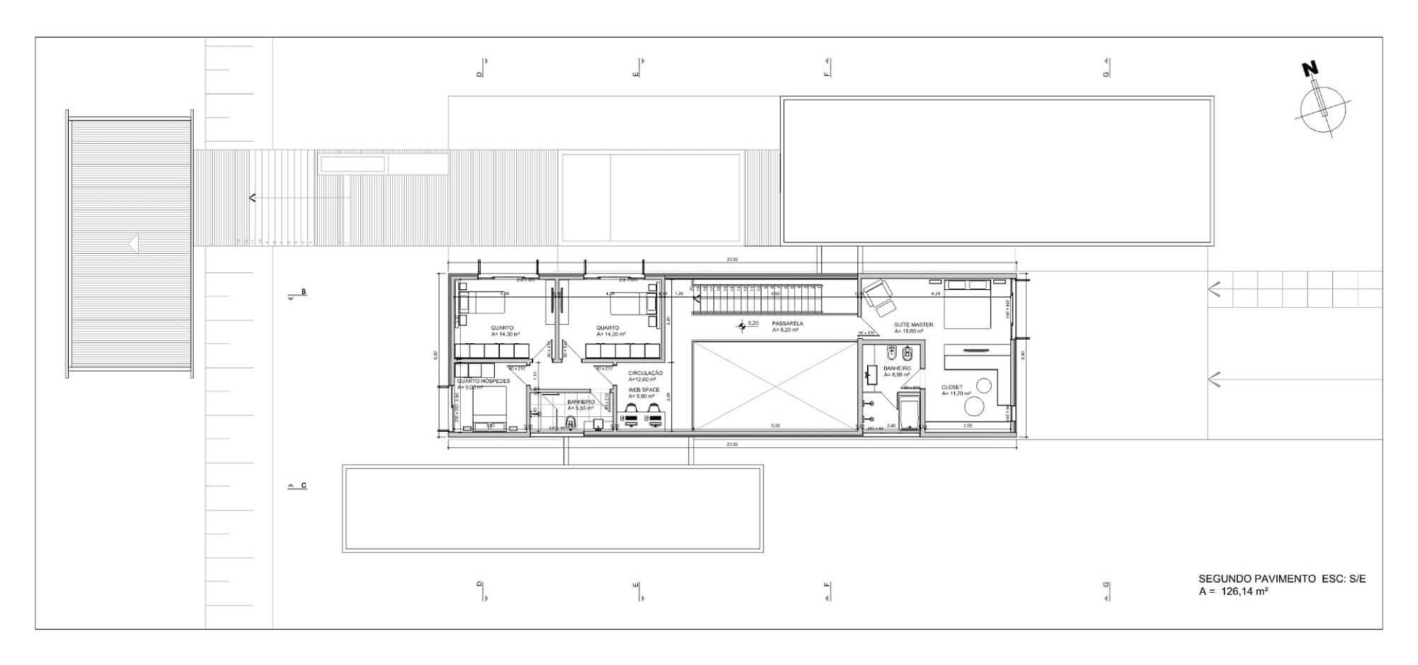 plantas de casas quatro quartos