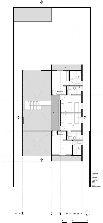 planta de casa com quarto quartos
