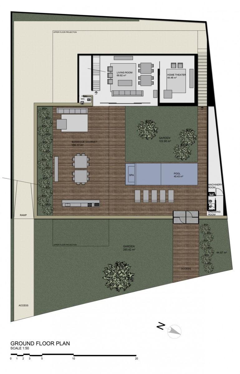 plantas de casa com 4 quartos