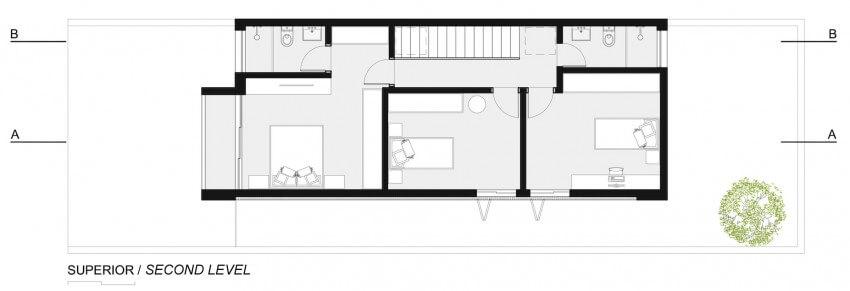 plantas de casas com tres quartos