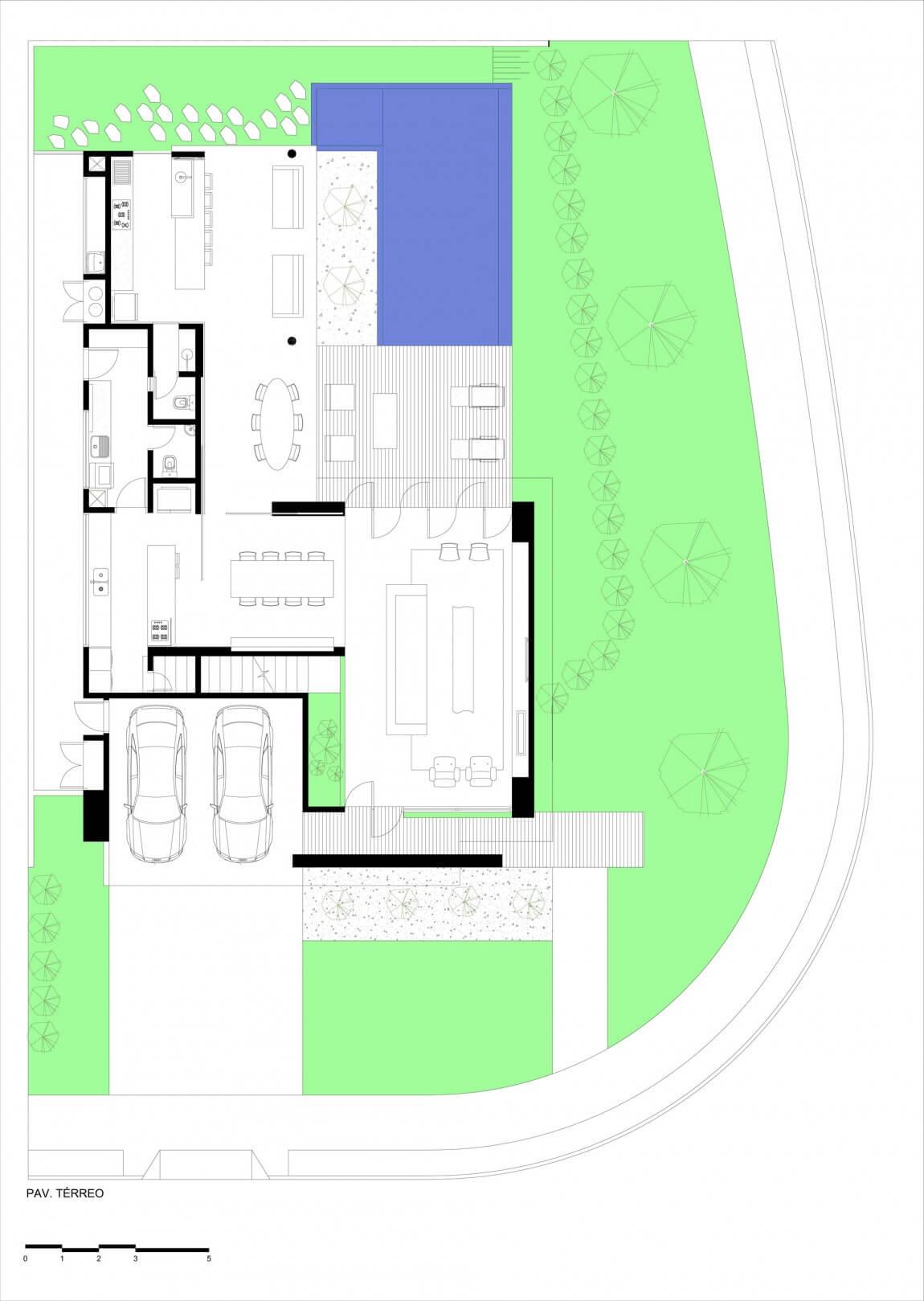 planta de casa 3 quartos