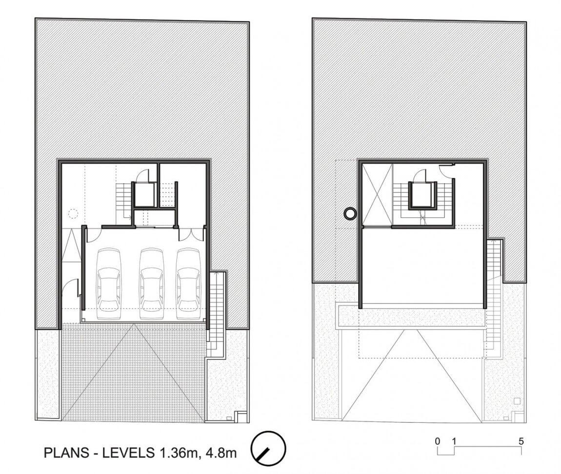 plantas de casas de 3 quartos