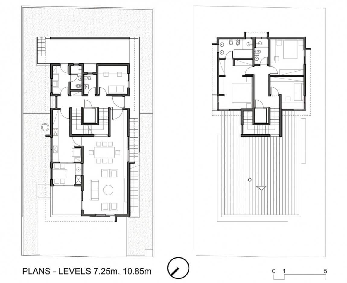 plantas de casas de tres quartos
