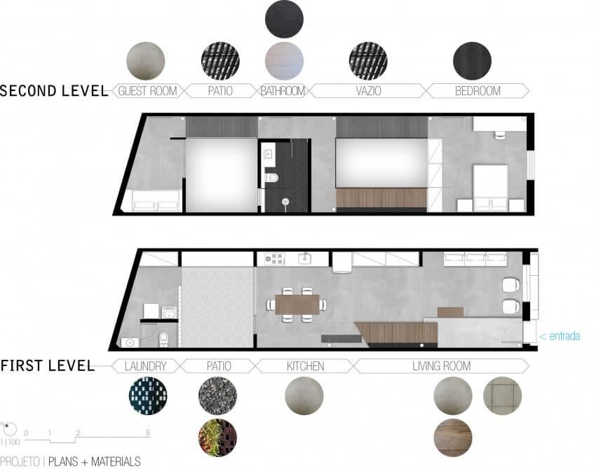 plantas de casas dois quartos