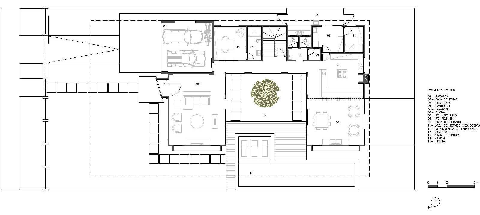 planta de casa 2 quartos