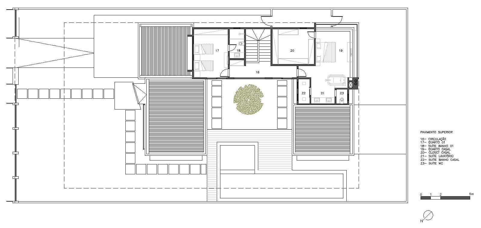 planta de casa com 2 quartos