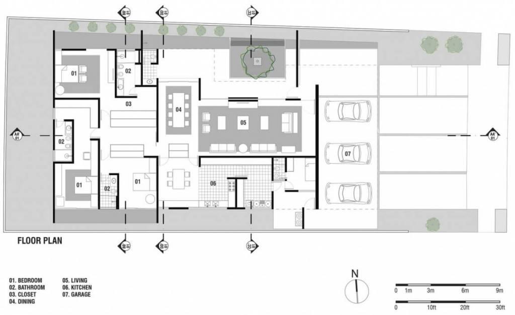 Plantas de casas com 3 quartos arquidicas - Plantas para casas ...