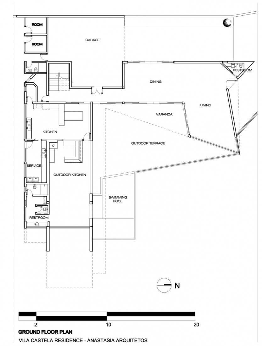 planta de casa moderna