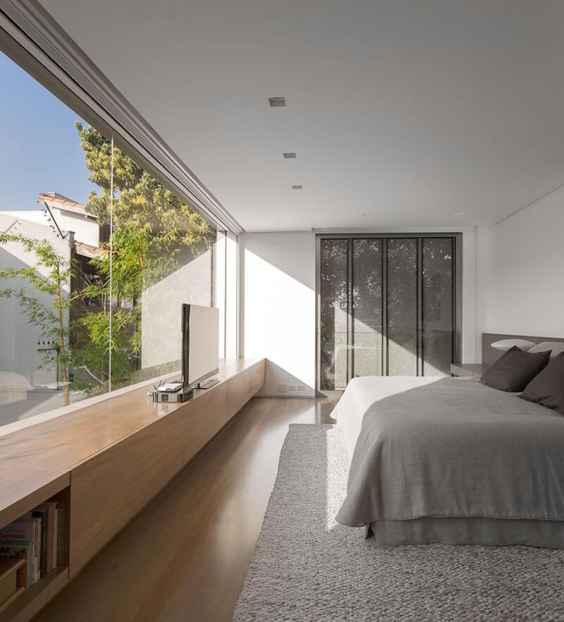 planta de casa posição solar