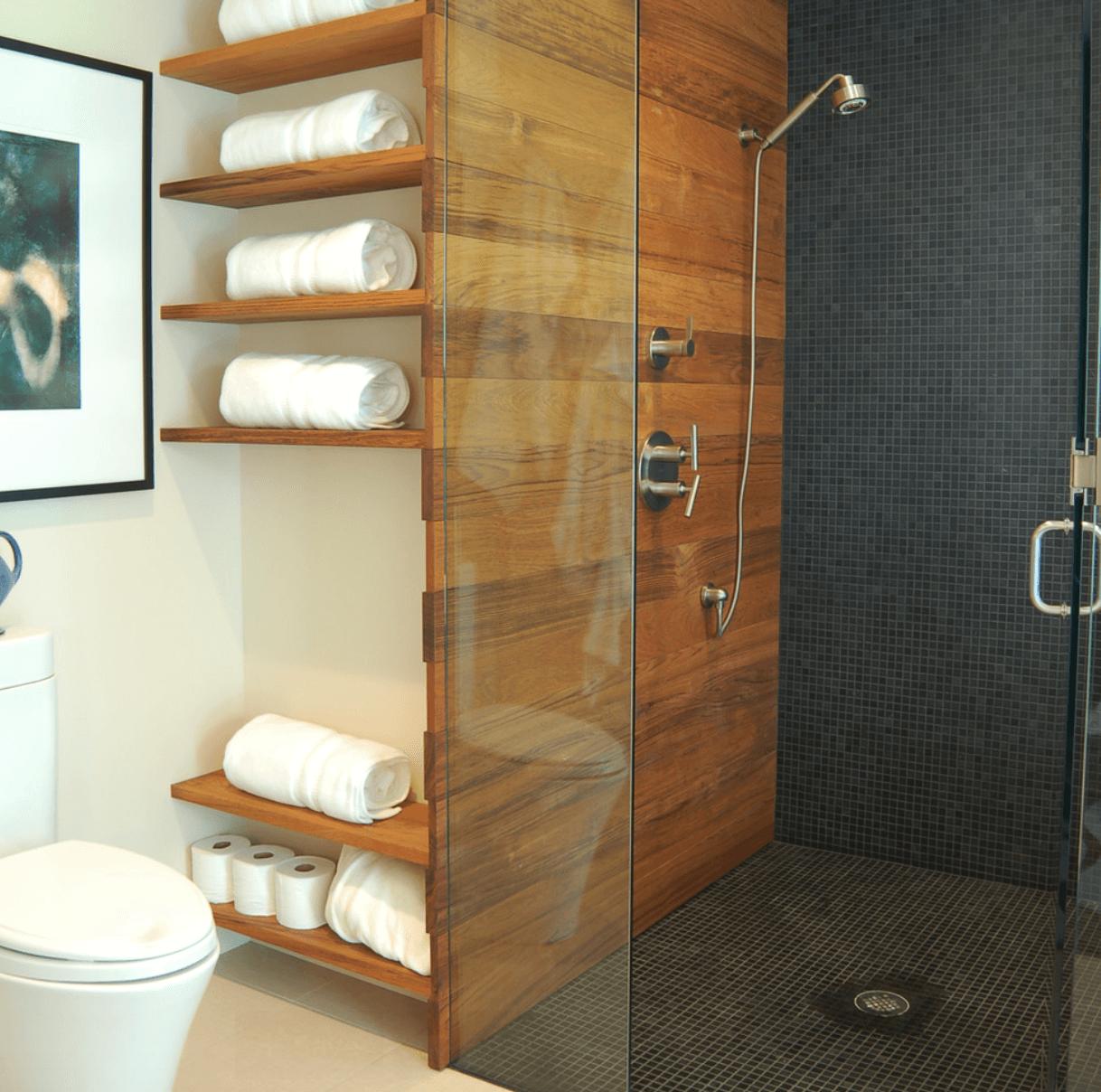 #956B36 Banheiros Decorados com Pastilhas 1218x1208 px Banheiros Pequenos Na Cor Cinza 227