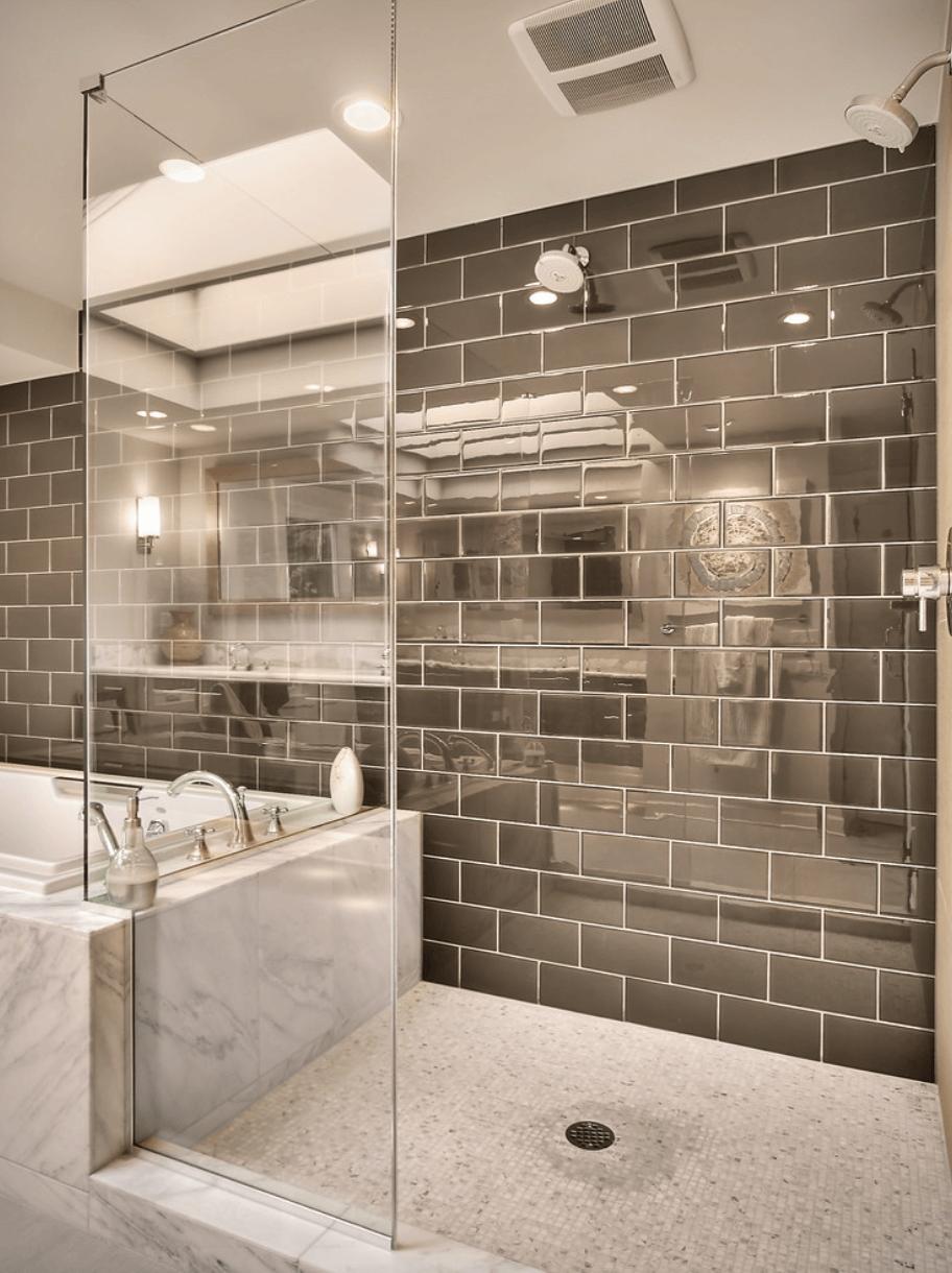 23 Banheiros com Pastilhas Lindas  Arquidicas # Banheiros Modernos Pastilhados