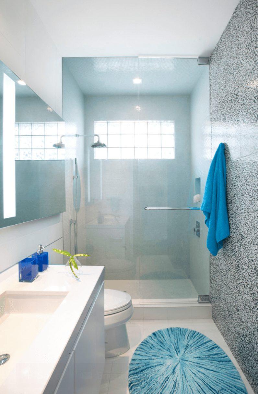 Banheiro clean contemporâneo