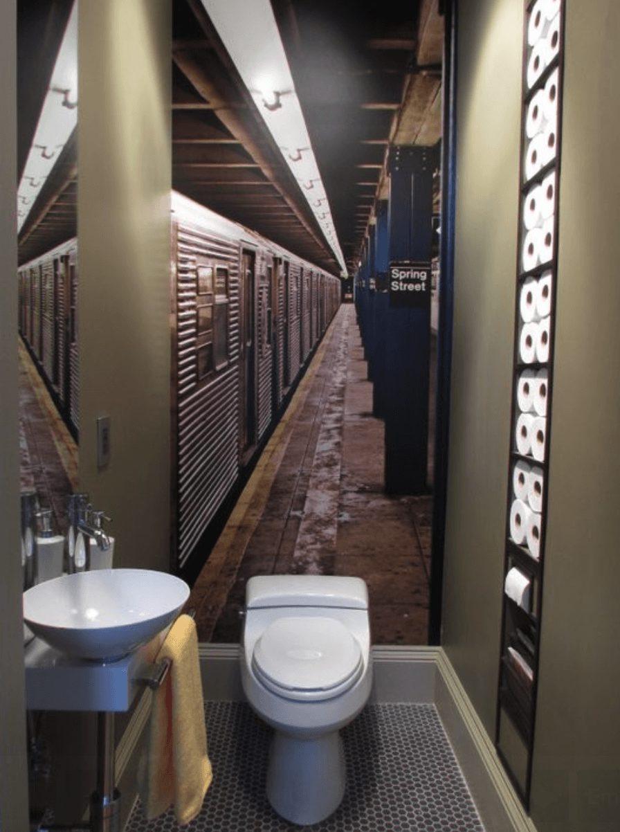 Banheiro adesivado