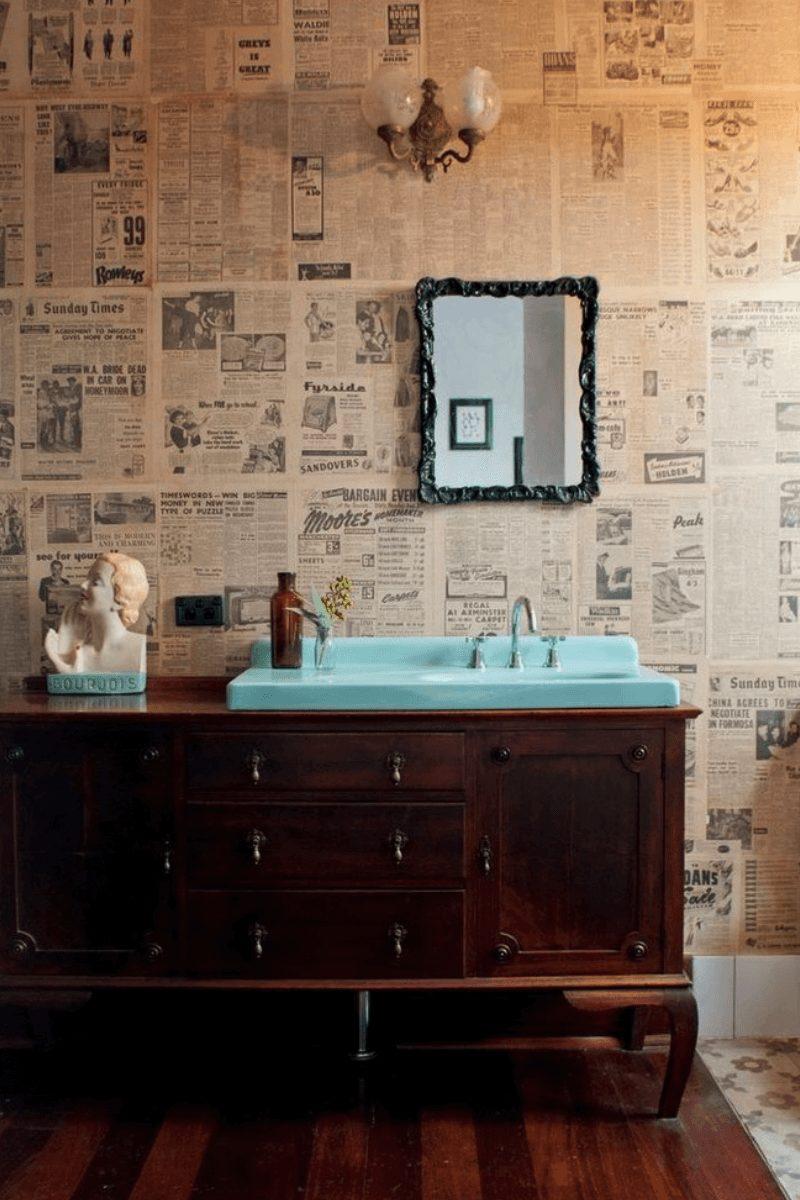 Banheiro de jornal