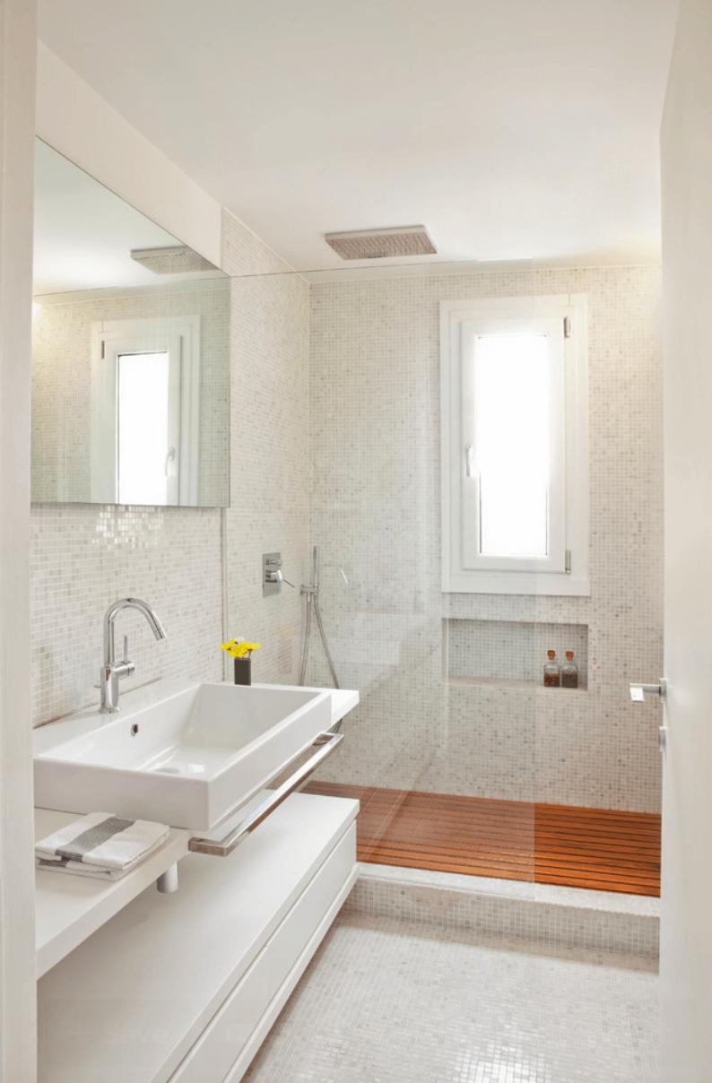 Banheiro clean moderno
