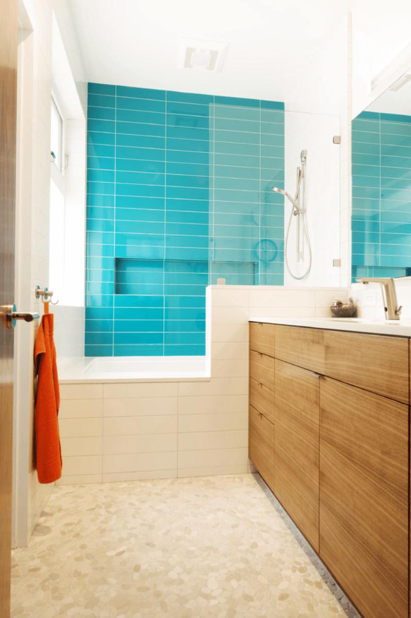 Banheiro moderno e barato