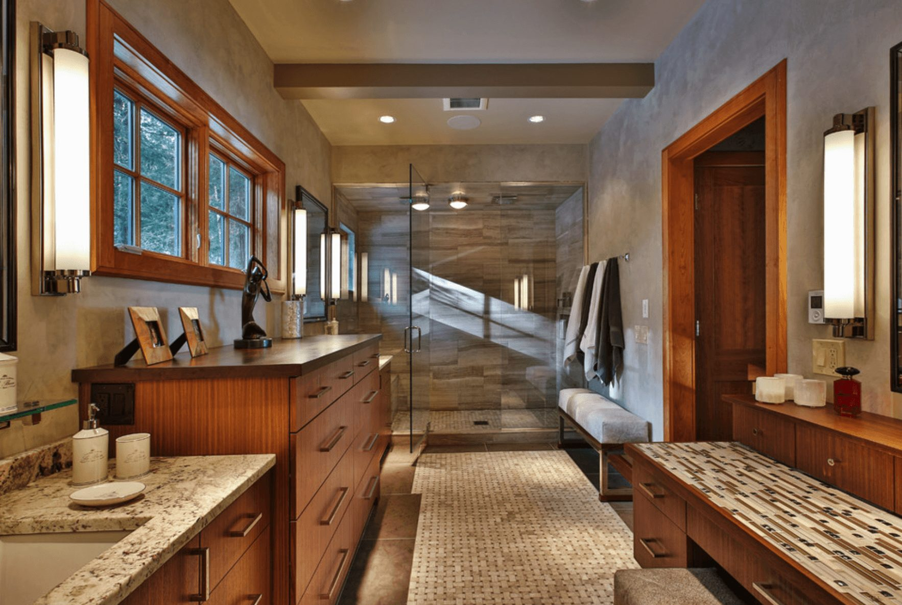 Banheiro Rústico e sistemático