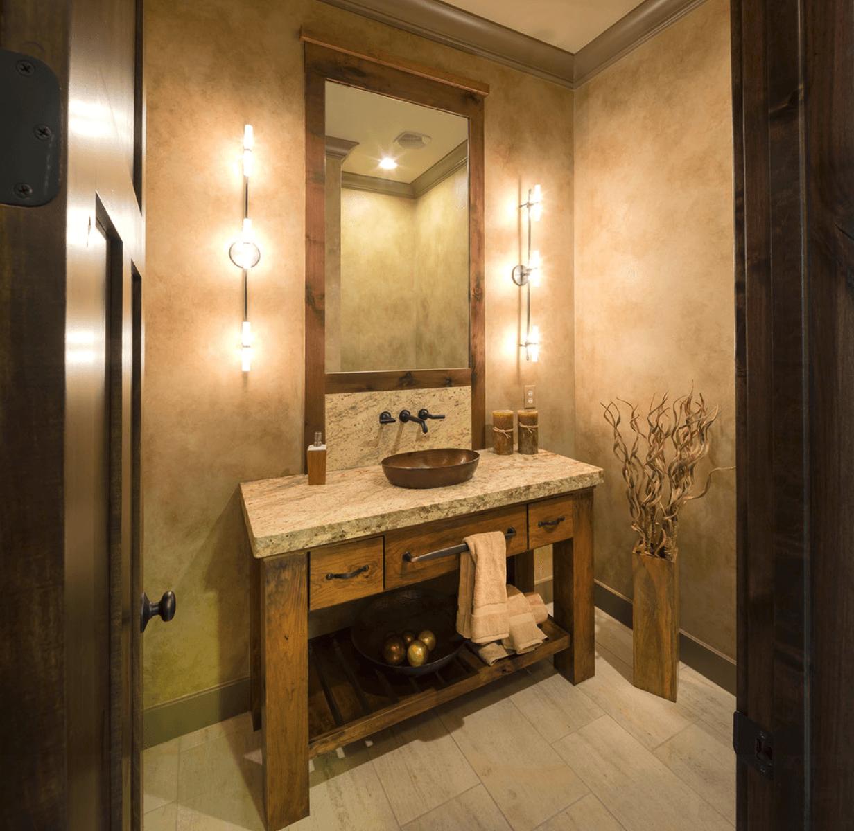 Banheiro Banheiro Moderno #B37A18 1232x1200 Balcao Banheiro Rustico