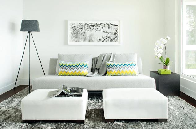 sala de estar pequena e simples