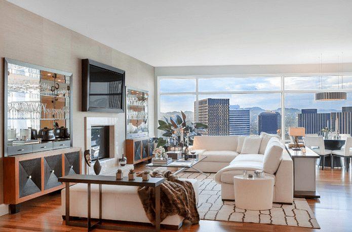 salas de estar apartamento
