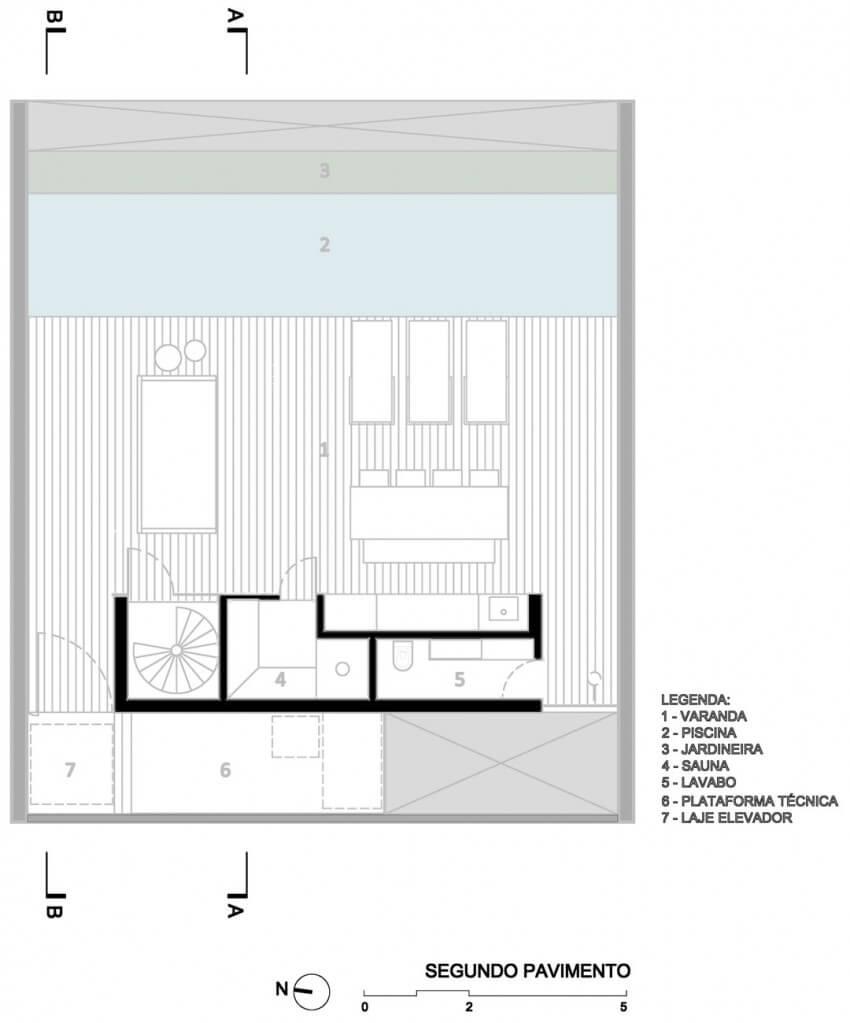 casa 12x12 planta de cobertura